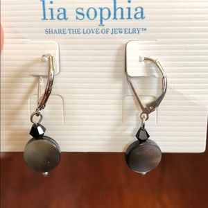 ✨🆕 Lia Sophia Mother of Pearl Earrings Necklace